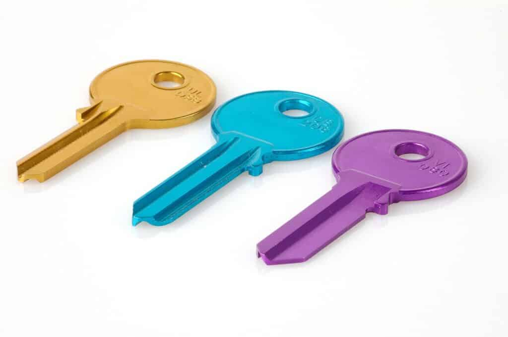 key, colorful, matching